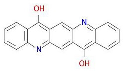 Pigment-ljubičasta-19 molekularne strukture